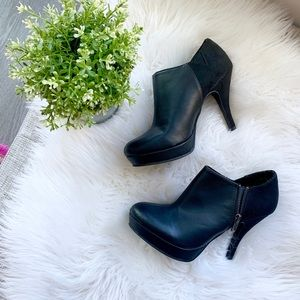Unlisted Kenneth Cole Black Side Zip Booties | 7.5